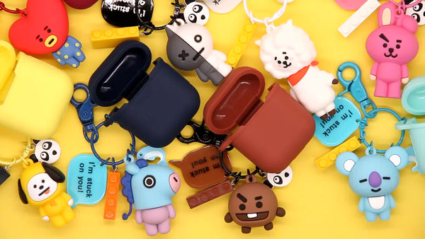 BT21 X KEYCHAIN AIRPOD CASE