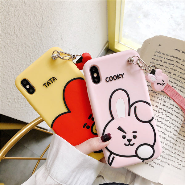BT21 X Wrist Strap Phone Case