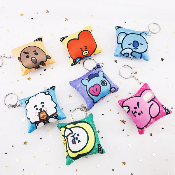BT21 X pillow keychain
