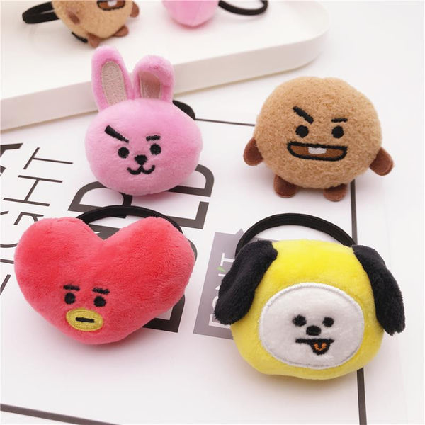 BT21 X Plush Doll Hair Ring - BT21 Store | BTS Online Shop