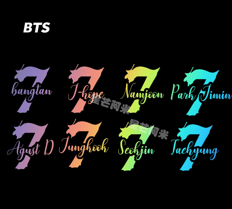 MAP OF THE SOUL 7 Laser stickers - BT21 Store | BTS Online Shop