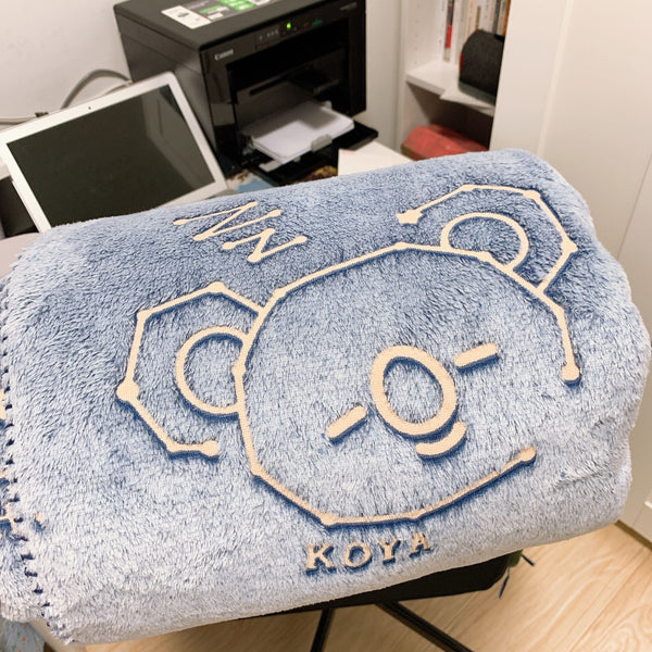 BT21 X Glow in the dark throw blanket - BT21 Store | BTS Online Shop