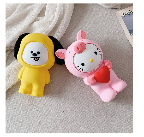 BT21 X 3D Cartoon Silicone Crossbody Chain Bag