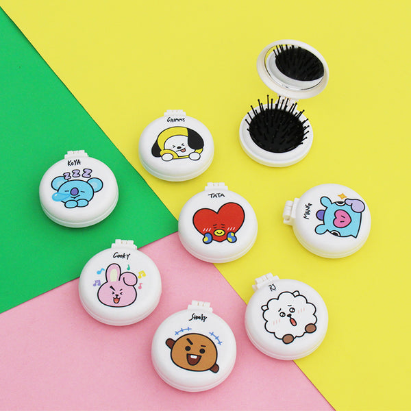 BT21 X Mini Portable Folding Hair Brush - BT21 Store | BTS Online Shop