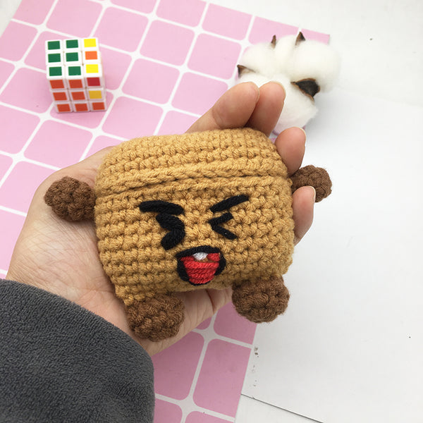 BT21 SHOOKY Hand Made Wool Knitting Airpods Case - BT21 Store | BTS Online Shop