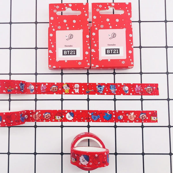 BT21 X Christmas paper tape - BT21 Store | BTS Online Shop