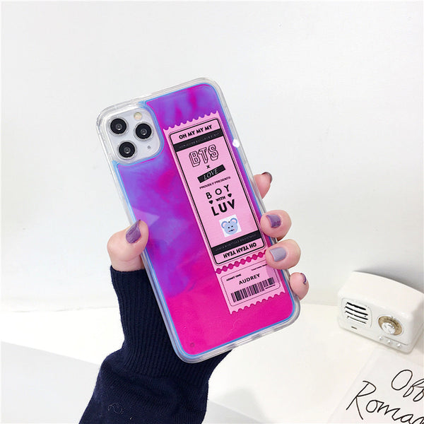 BTS X Boy With Luv Neon Sand Liquid PHONE CASE - BT21 Store | BTS Online Shop