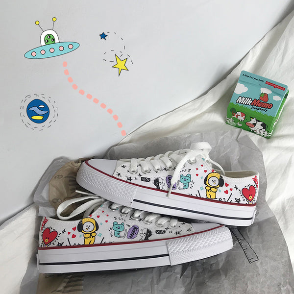 BT21 X Canvas Shoes - BT21 Store | BTS Online Shop