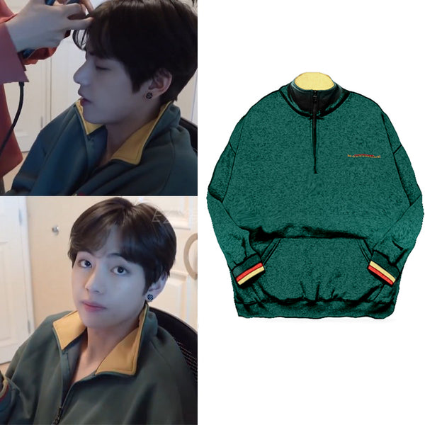 BTS Taehyung Embroidery Sweatershirt - BT21 Store | BTS Online Shop