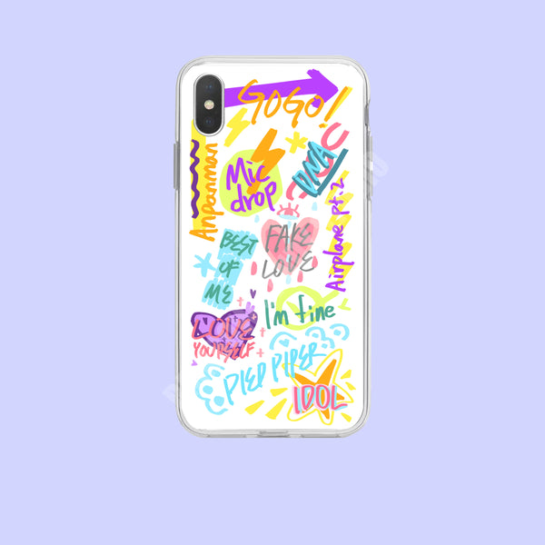 BTS X Graffiti Phone case - BT21 Store | BTS Online Shop