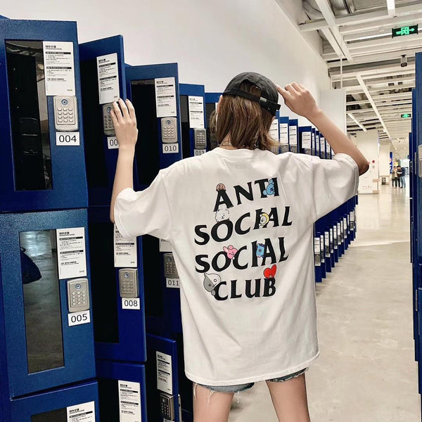 BT21 X Anti  Social Club T-Shirt - BT21 Store | BTS Online Shop