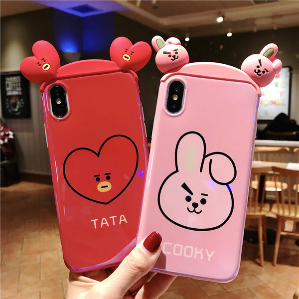 BT21 X 3D Blue light Phone Case