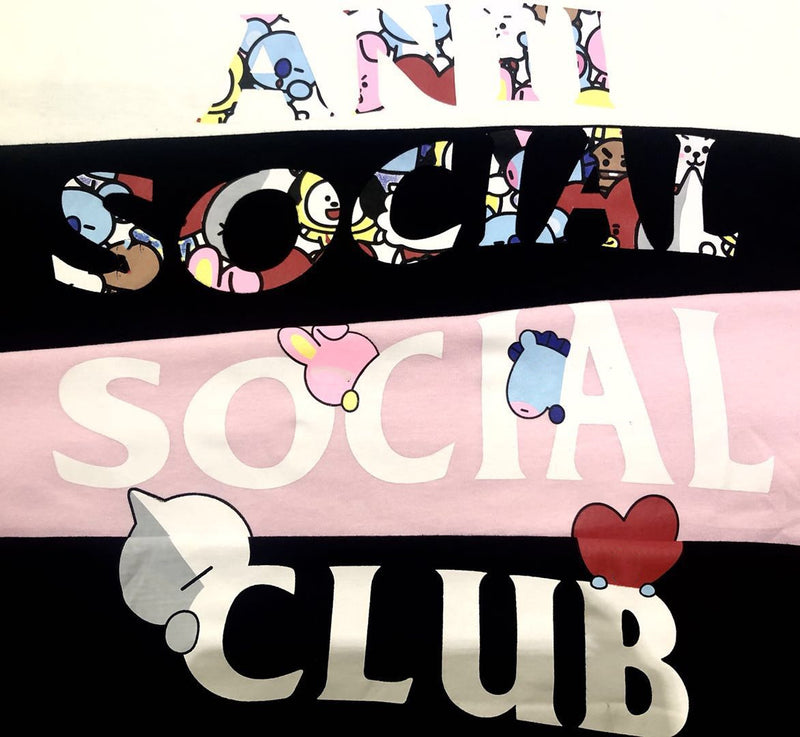 BT21 X Anti  Social Club T-Shirt - BT21 Store | BTS Shop
