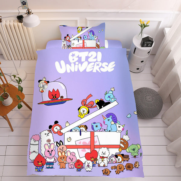 BT21 X Single Bedding Set Of Three - BT21 Store | BTS Online Shop