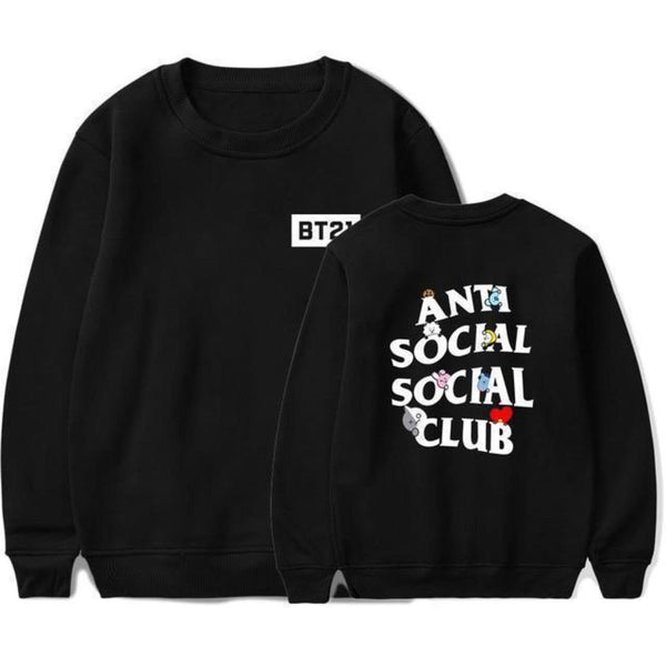 BT21 X Anti social social club sweatshirt - BT21 Store | BTS Shop