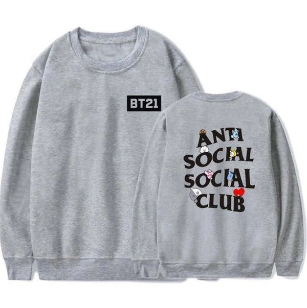 BT21 X Anti social social club sweatshirt - BT21 Store | BTS Online Shop