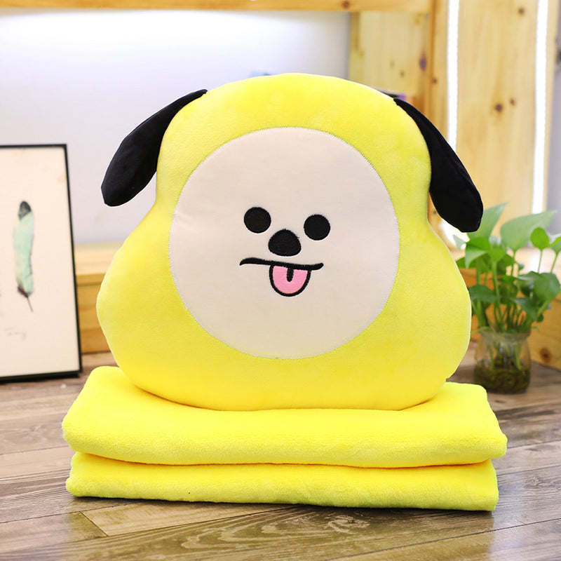BT21 X Multi-function Hand Warmer Pillow Blanket - BT21 Store | BTS Online Shop