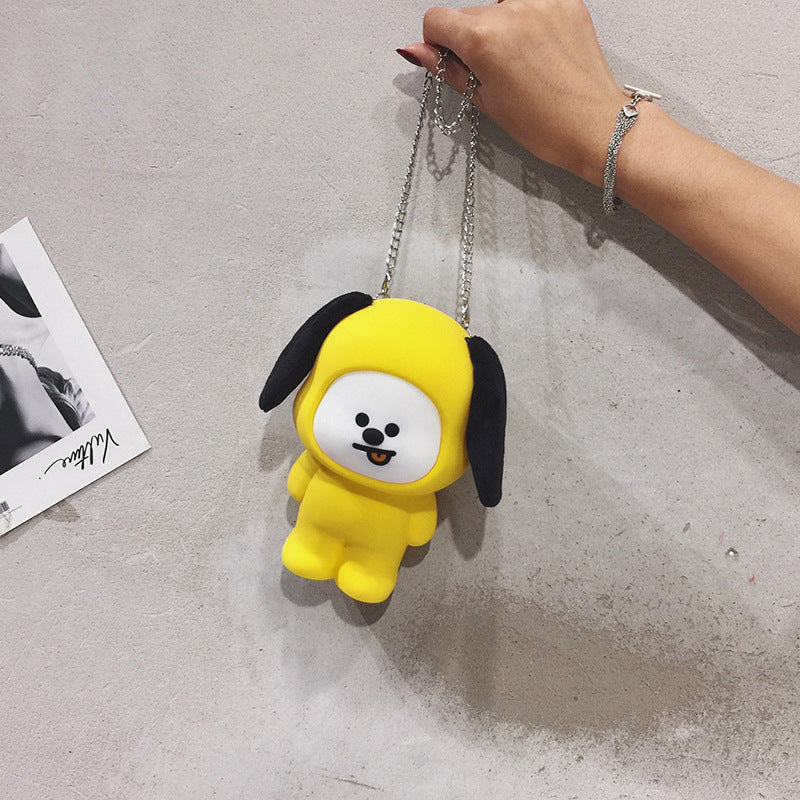 BT21 X 3D Cartoon Silicone Crossbody Chain Bag - BT21 Store | BTS Online Shop