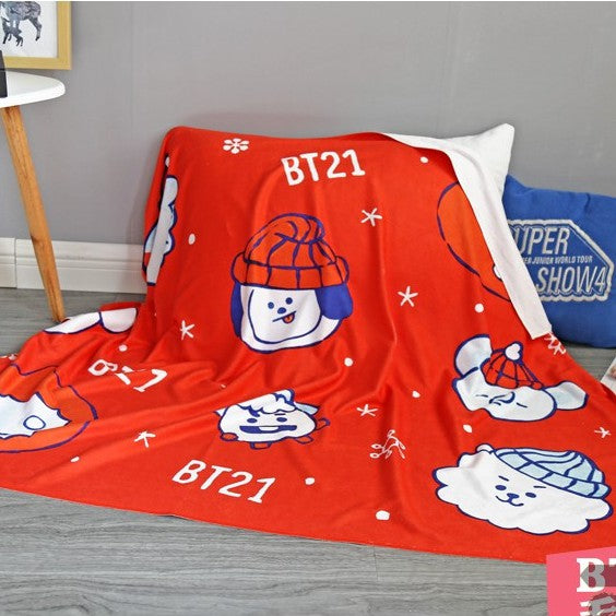 BT21 X Christmas blanket - BT21 Store | BTS Online Shop