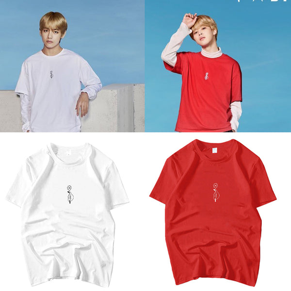 BTS Vmin Flower T-shirt - BT21 Store | BTS Online Shop