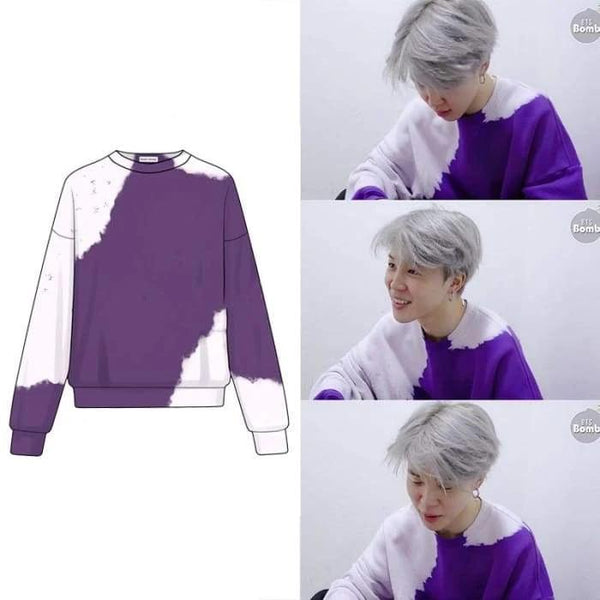 BTS Jimin Purple Tie Dye Sweater - BT21 Store | BTS Online Shop