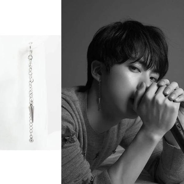 BTS Jin FAKE LOVE Fashion Cone Chain Earring - BT21 Store | BTS Online Shop
