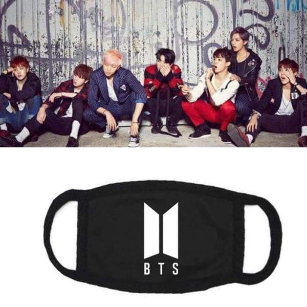 BTS Logo Flower Wings Mask - Accessories