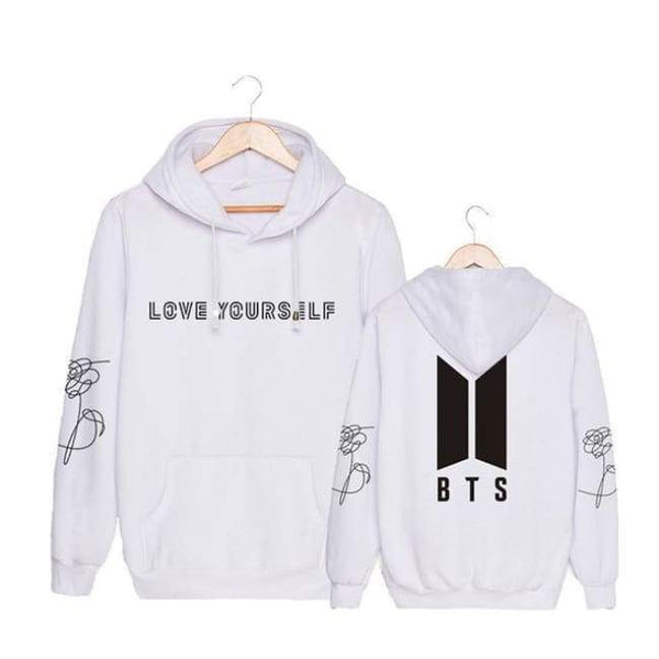 BTS Logo Love Yourself Classic Hoodie - BT21 Store | BTS Online Shop