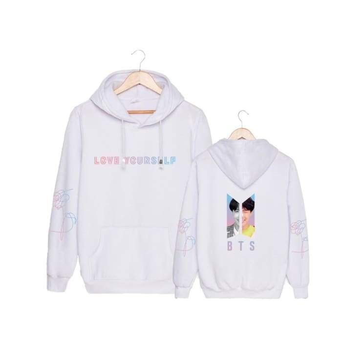 BTS Love Yourself Member Answer 'L' Classic Hoodie (LY) - BT21 Store | BTS Online Shop