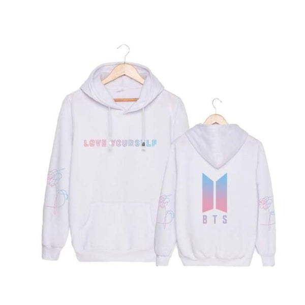 BTS Love Yourself Member Answer 'L' Classic Hoodie (LY) - BT21 Store | BTS Shop