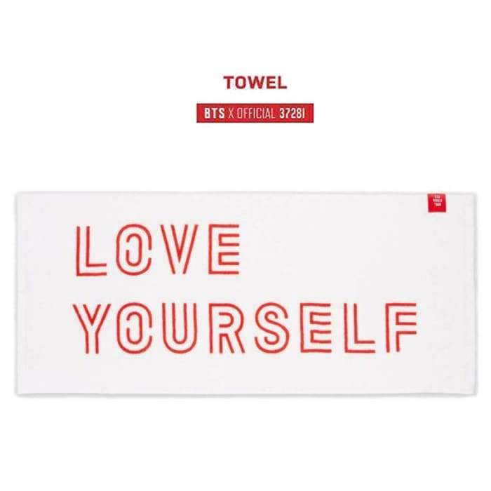 BTS Love Yourself World Tour Towel - BT21 Store | BTS Online Shop