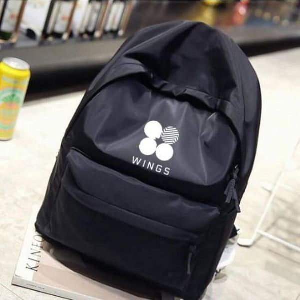 BTS Original Wings Logo Backpack (3 colors) - BT21 Store | BTS Online Shop
