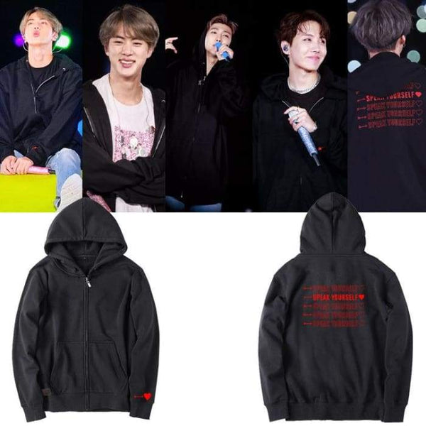 BTS Speak Yourself Zip Up Hoodie - BT21 Store | BTS Online Shop