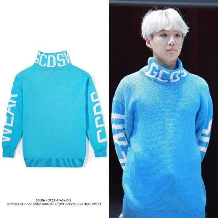 BTS Suga GCDS Turtle Neck Sweater - BT21 Store | BTS Online Shop