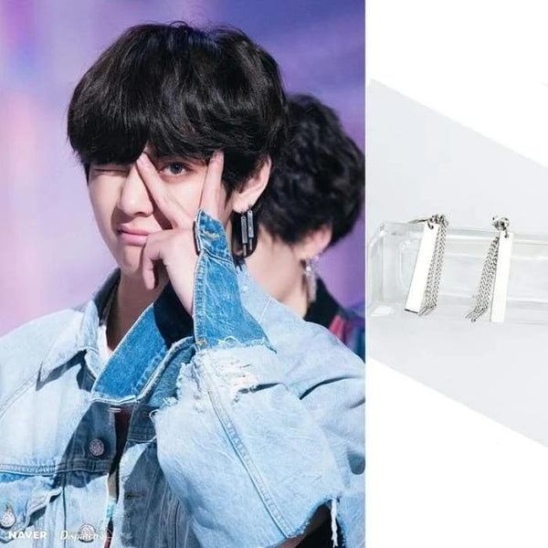 BTS Taehyung FAKE LOVE MV Fashion Earring - BT21 Store | BTS Online Shop