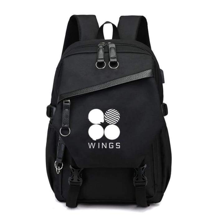 BTS Wings Logo School Backpack - BT21 Store | BTS Online Shop
