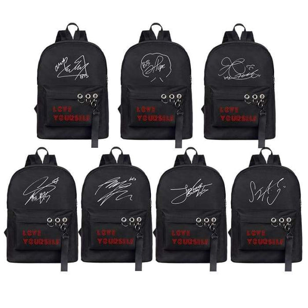 BTS World Tour Member Signature Backpack - BT21 Store | BTS Online Shop