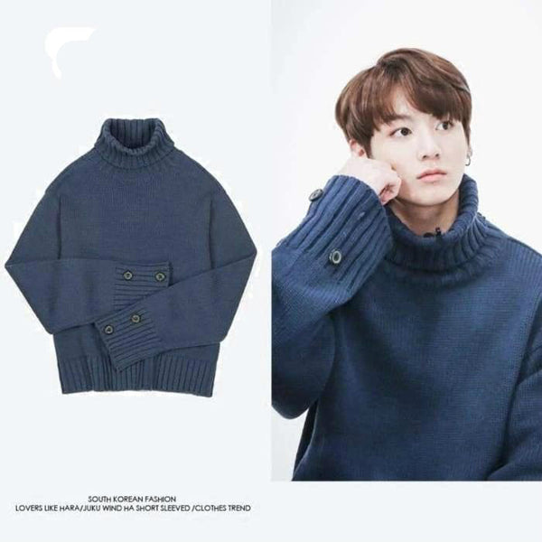 BTS Jungkook Winter Pullover Sweater - BT21 Store | BTS Shop