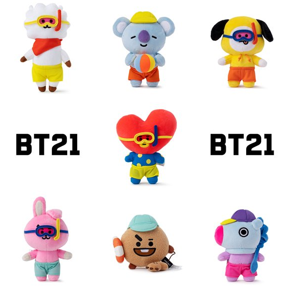 BT21 X Voyage Summer Standing Plush Dolls - BT21 Store | BTS Shop