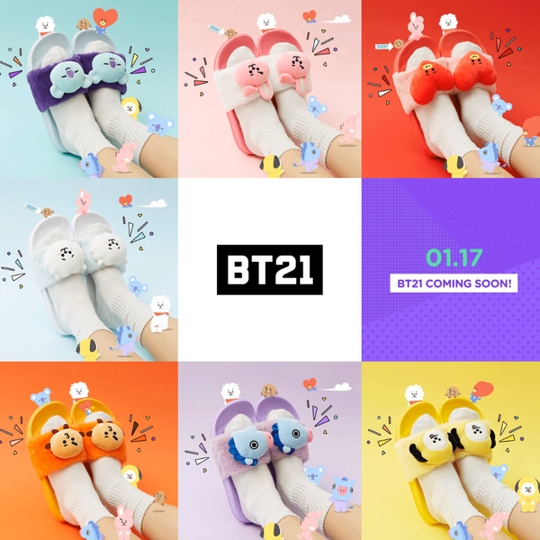 BT21 X SLIPPERS - BT21 Store | BTS Shop