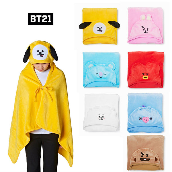 BT21 HOODED BLANKET - BT21 Store | BTS Online Shop