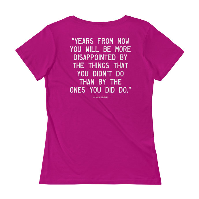 Quote #39 - WalkingGal - Ladies' Scoopneck Quote Shirt