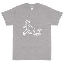 Load image into Gallery viewer, Walking Man - Walks the Dog - Short Sleeve T-Shirt