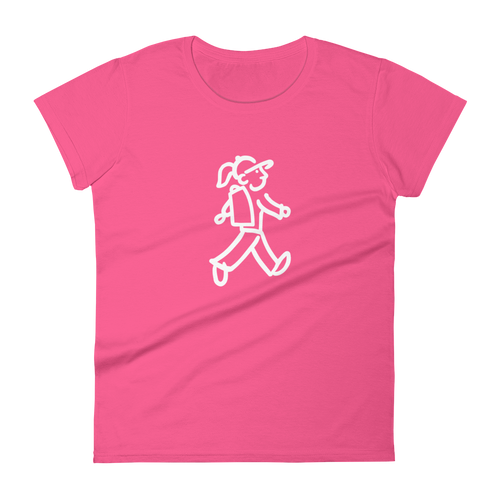 Walking Gal - Backpacking Woman - Women's short sleeve t-shirt
