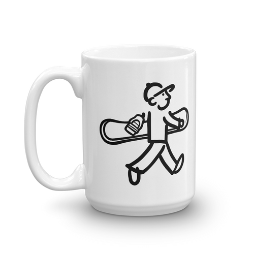 WalkingMan - Goes Snowboarding - Coffee Mug