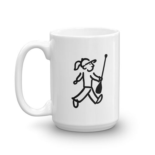 WalkingGal - Paddles her SUP - Coffee Mug