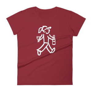 Walking Woman - Wine Tasting Woman - Women's short sleeve t-shirt