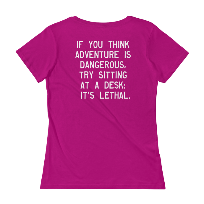 Quote #45 - WalkingGal - Ladies' Scoopneck Quote Shirt