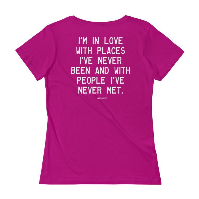 Quote #44 - WalkingGal - Ladies' Scoopneck Quote Shirt