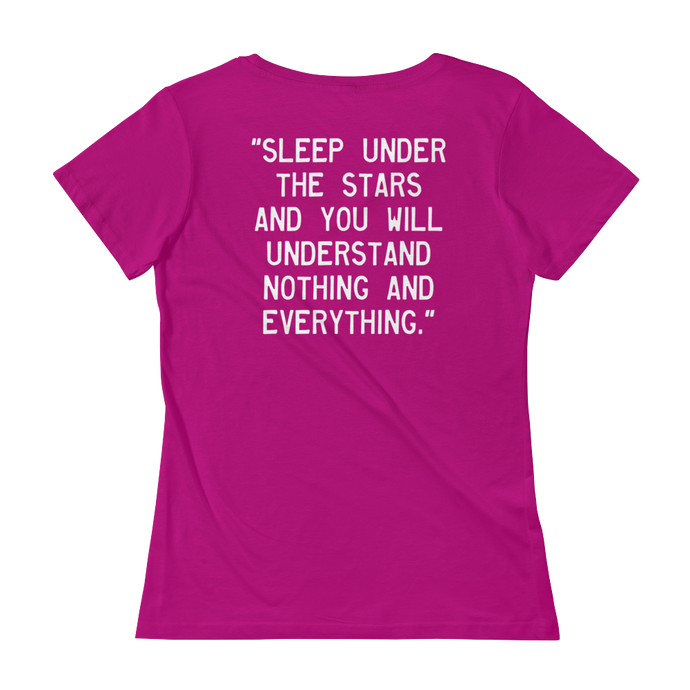Quote #51 - WalkingGal - Ladies' Scoopneck Quote Shirt